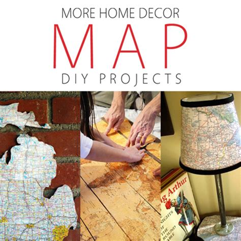 more home decor map diy projects the cottage market