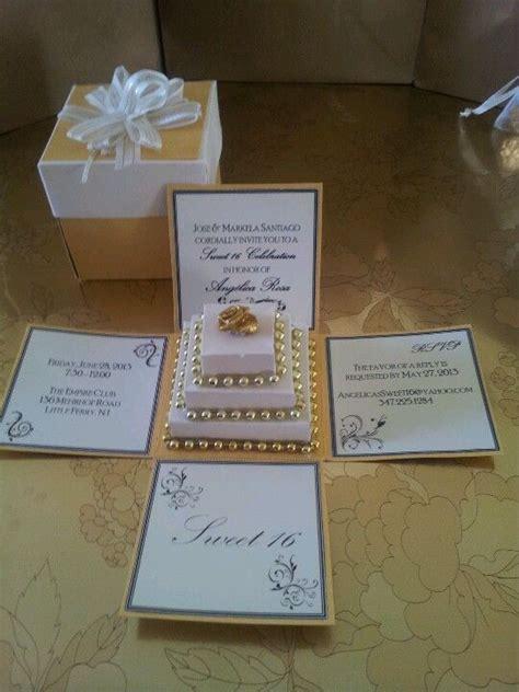 explosion box wedding invitation exploding box invitation s sweet 16