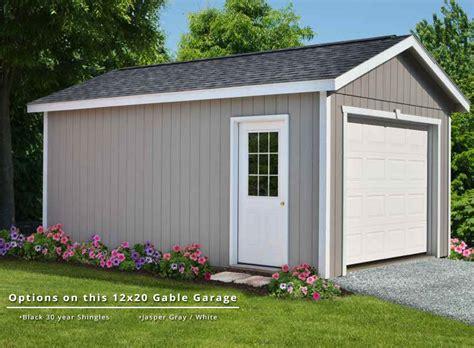 Gable Roof Garage Gable Garage Amish Yard