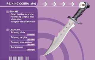 Pisau Belati Cobra yogabrata sangkur pisau komando king cobra