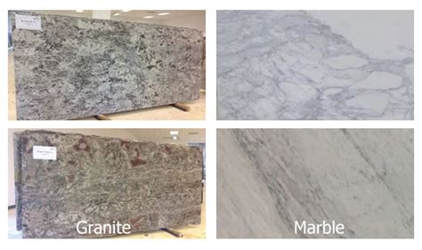 what is the difference between marble and granite