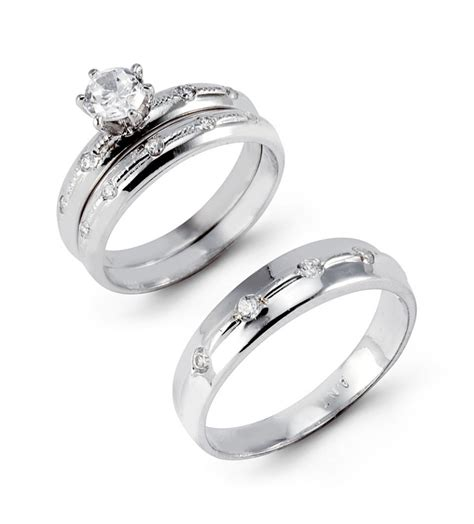 gold wedding ring sets for and groom popular k white