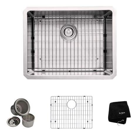 undermount kitchen sink stainless kraus 23 inch undermount single bowl 16 stainless