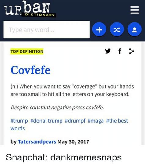 k urban dictionary covfefe wwwurbandictionarycom 100