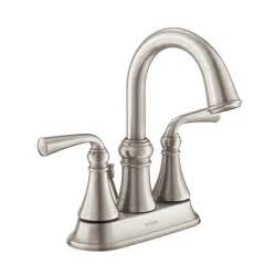 moen faucets bathroom sink shop moen wetherly spot resist brushed nickel 2 handle 4