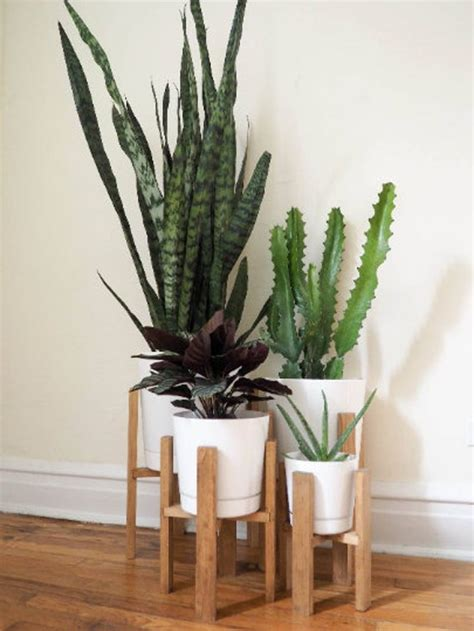 indoor planter wooden plant stand  pot pot stand