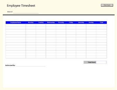 Employee Time Sheet Template Business Forms Timesheet Template Free Printables Free Cleaning Timesheet Template