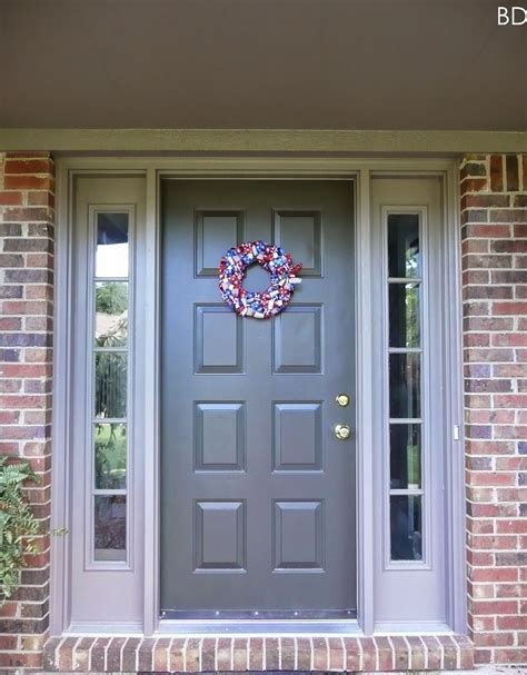 exterior door colors looking for a front door color with pink brick for the