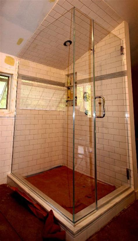Angled Shower Door Angled Ceiling Frameless Applications Cold Shower Doors