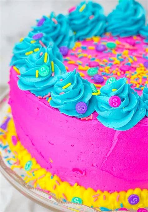 Shopkins Layer Cake A Bright Fun  Ee  Birthday Ee   Cake