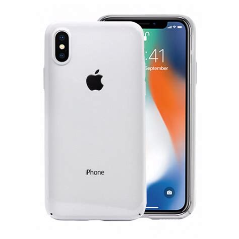 x iphone hicool ultra slim cover for iphone x white
