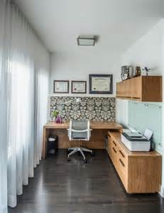 small home office decor chic small home office with abstract wallpaper