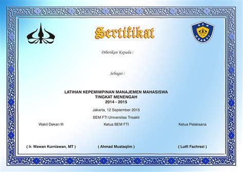 trisakti desain grafis piagam dan sertifikat untuk penghargaan maupun ucapan