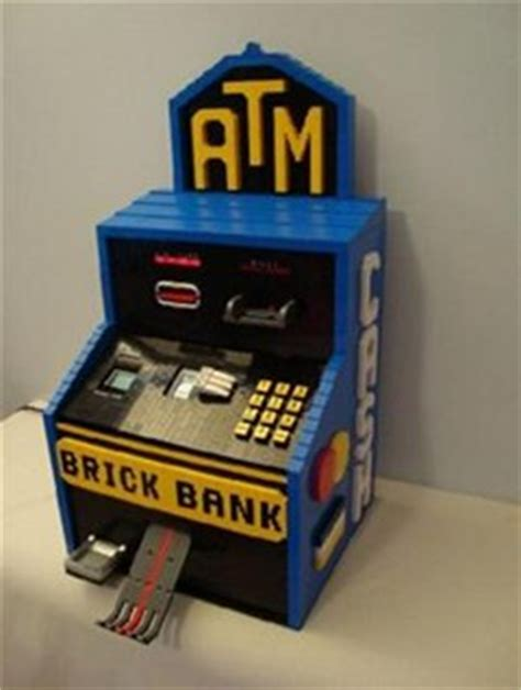 lego atm tutorial ca ching lego brick bank dispenses real cash
