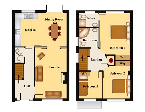 Townhouse Floor Plans by Townhouse Floor Plans Bedroom Townhouse Floor Plan