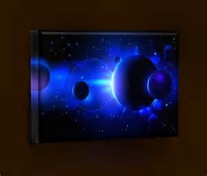 bilder mit led beleuchtung yadoso beleuchtetes led wandbild wandle quot planeten