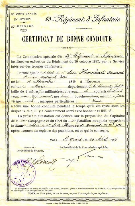 Lettre De Recommandation Bonne Conduite T 233 Moignages Des Hommes Sur La Premiere Guerre Mondiale
