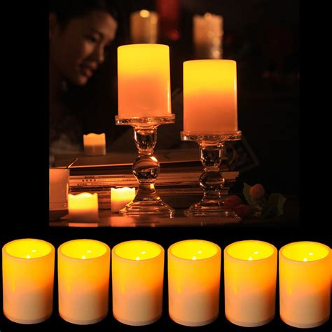candle light decoration at home battery powered flameless led candle flickering tea light