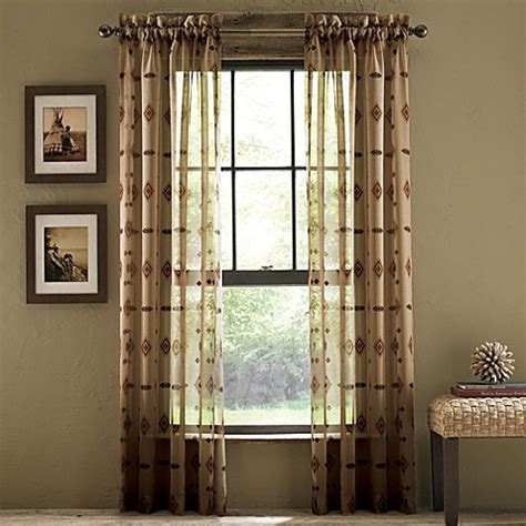 croscill sheer curtains croscill 174 chimayo sheer rod pocket 108 inch window curtain
