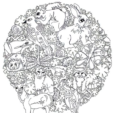 woodland animals an colouring book for dreaming and relaxing books woodland animal coloring page coloring home