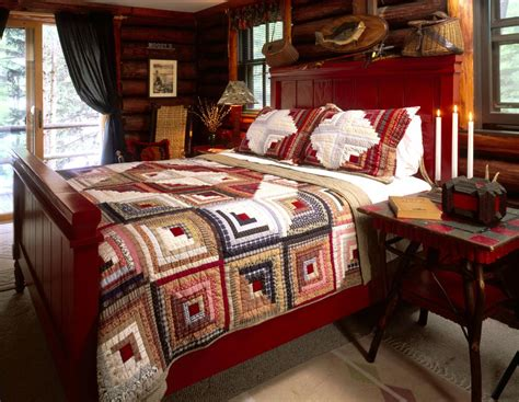 Quilt On A Bed Log Cabin Quilts Photo Gallery And Layout Tips