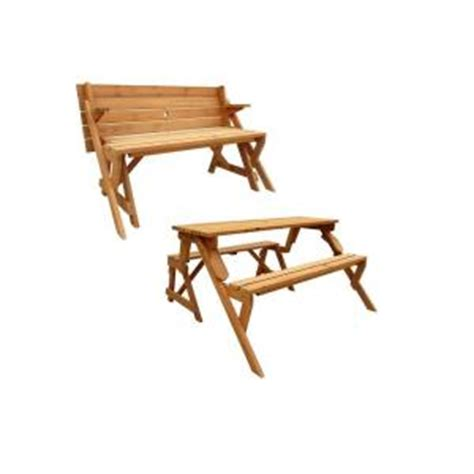 home depot picnic tables and benches leisure season 55 in x 58 in x 30 in cedar folding