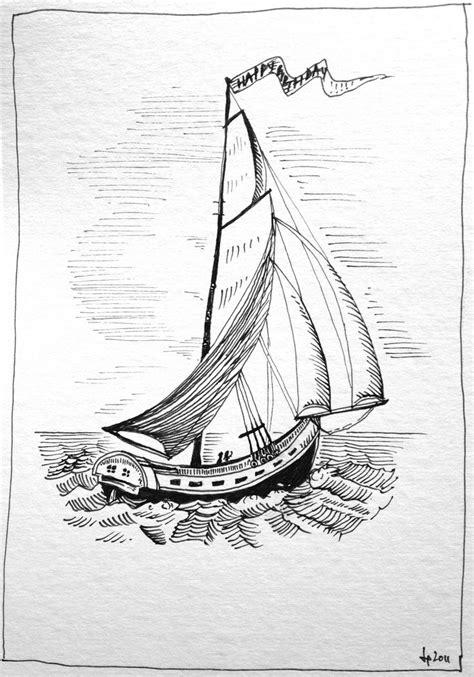 boat drawing ink sailboat pen ink ink drawings pinterest sailboats