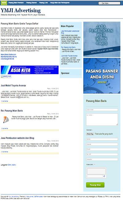 membuat iklan baris gratis buat web iklan baris gratis dengan blogger blog dan