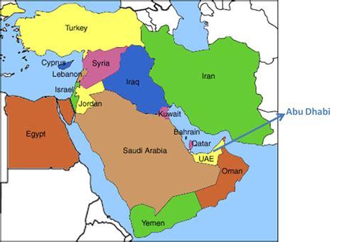 uae map middle east uae map middle east arabcooking me