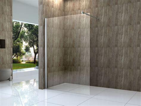 duschabtrennung feststehend vacante 140x200cm duschwand 10mm glas walk in dusche