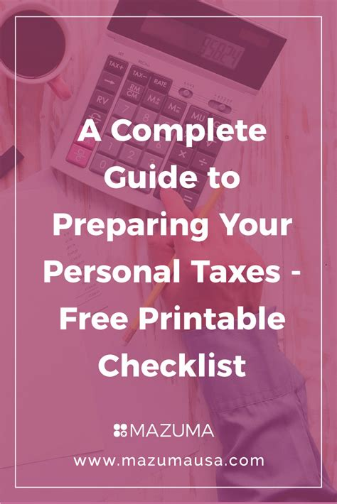 a complete guide to preparing your personal taxes free
