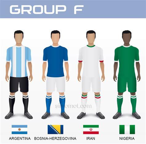 Kaos Negara 13 pembagian grup piala dunia 2014 disertai bendera dan kaos masing masing negara