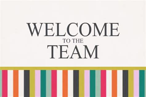 Personalized Greeting Card To Welcome New Members To Your Team Business Www Heritagemakers Com Welcome Sign Template