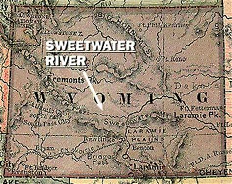 map of oregon trail in wyoming pbs the west sweetwater river