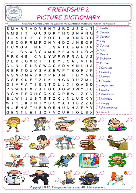 printable word search about friendship friendship find and circle the words in the wordsearch