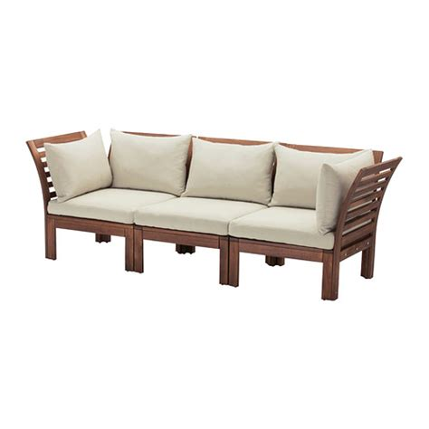 outdoor sofa ikea 196 pplar 214 h 197 ll 214 sofa outdoor brown stained beige ikea