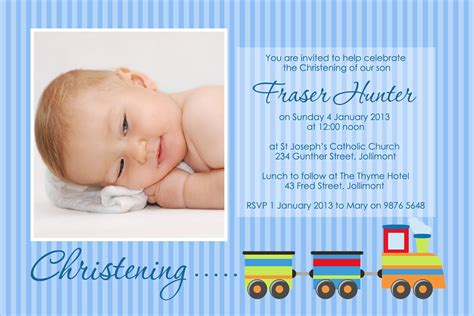 Layout Design For Invitation Christening | train christening li designs