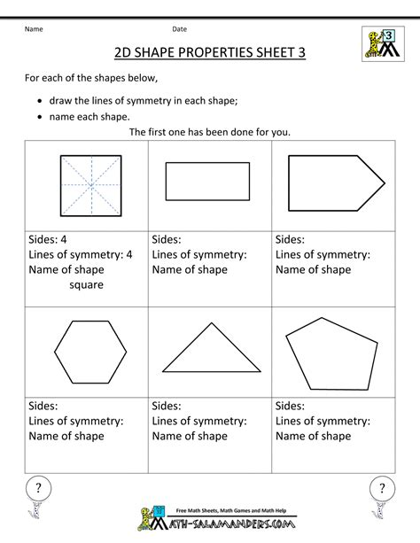 printable math worksheets shapes free printable geometry worksheets 3rd grade