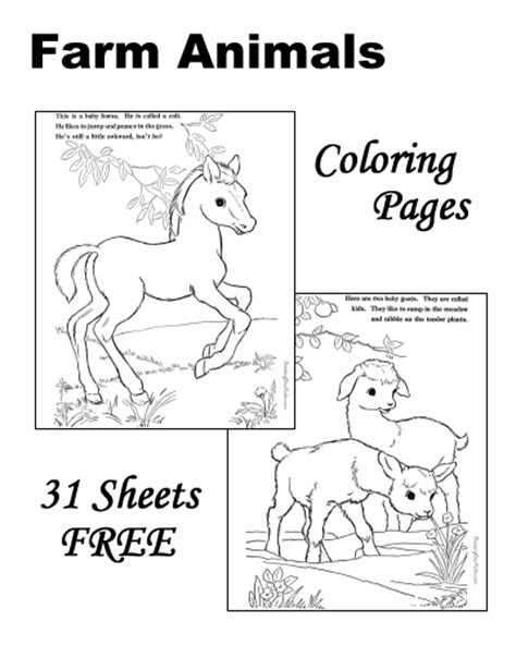 crayola coloring pages of farm animals printable pictures of farm animals to color wallpaper images