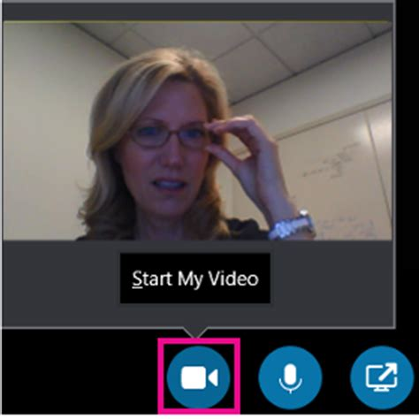 make and receive a video call using skype for business