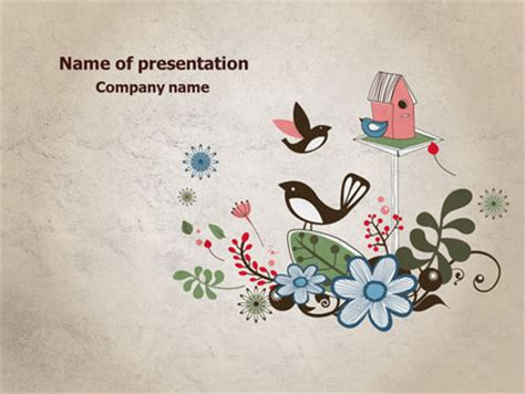 powerpoint themes free download birds bird theme powerpoint template backgrounds 08004