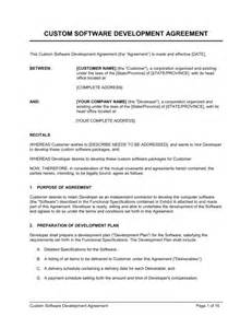 software development terms and conditions template custom software development agreement template sle