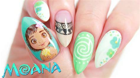 lipstick nail art tutorial disney s moana nail art design tutorial makeup videos