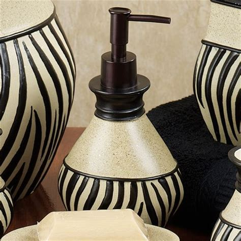 zebra bathroom accessories zuma zebra bath accessories
