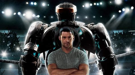 film robot ze stali movie star hugh jackman in film real steel wallpapers and