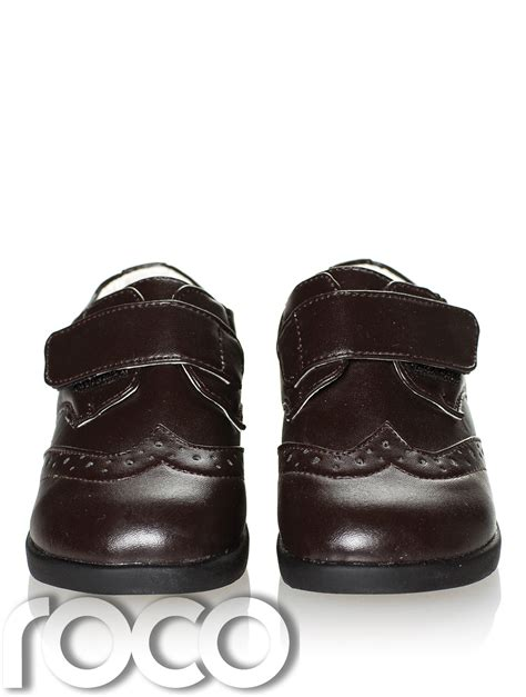 brown infant shoes boys brown brogue shoes boys formal shoes page boy
