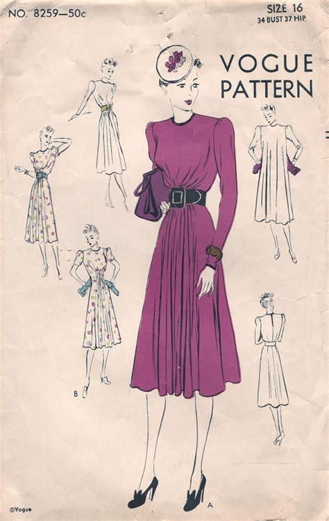 vogue pattern history vogue 8259 vintage sewing patterns
