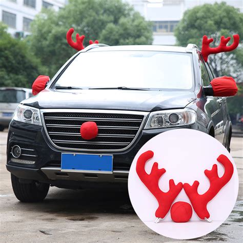 car decoration reindeer car decoration christmas party fun