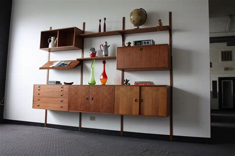 modular wall units majestic hansen modern teak modular wall unit denm flickr