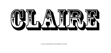 coloring pages of the name claire claire name tattoo designs